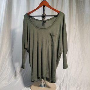 Cynthia Rowley Ruffled Sleeve Tunic Size Medium